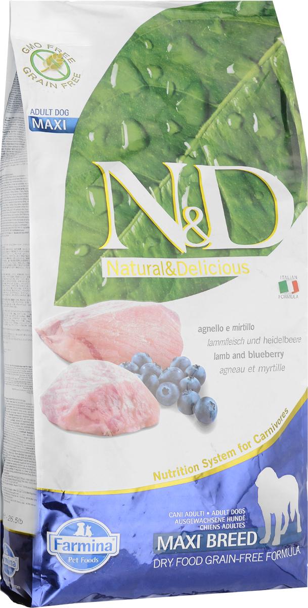 Корм сухой Farmina N&D для собак крупных пород, с ягненком и черникой, 12 кг21878Сухой корм Farmina N&D является беззерновым и сбалансированным питанием для взрослых собак крупных пород. Изделие имеет высокое содержание витаминов и питательных веществ. Сухой корм содержит натуральные компоненты, которые необходимы для полноценного и здорового питания домашних животных. Линия продуктов Farmina N&D - это сухие корма для собак, рецептура которых построена по принципу питания плотоядных животных. Товар сертифицирован.