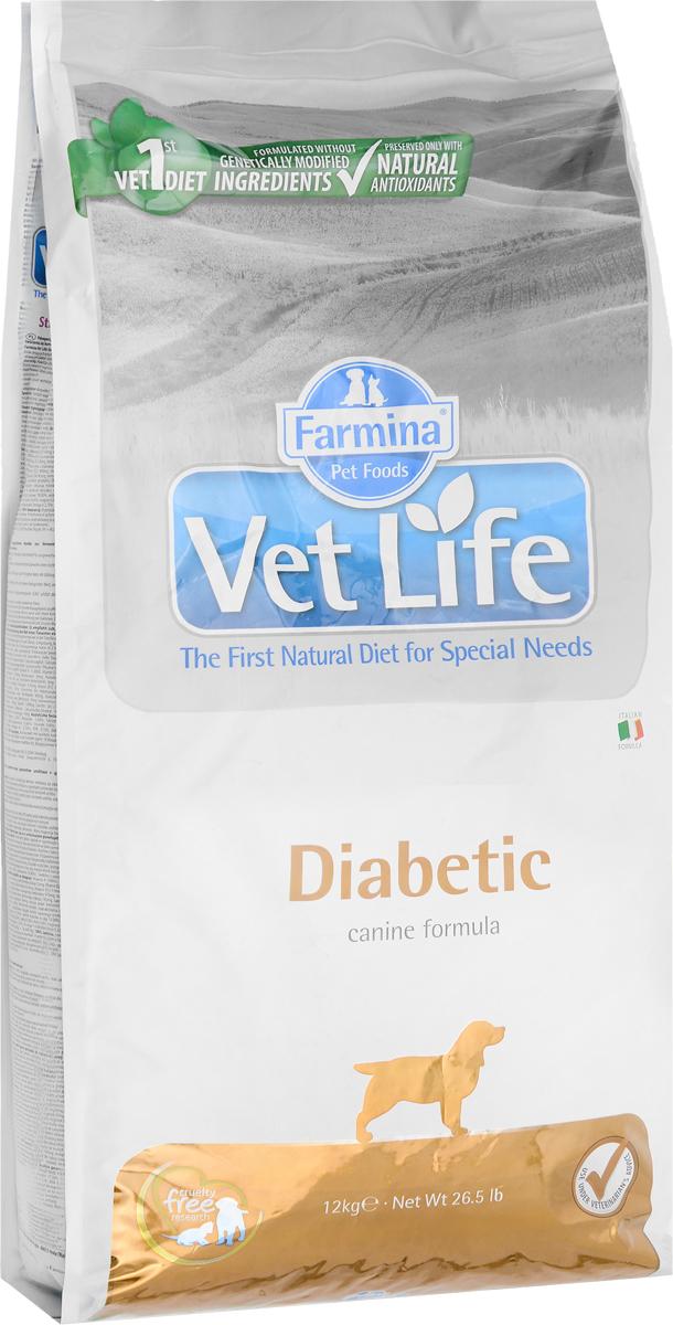 Корм сухой Farmina Vet Life для собак с сахарным диабетом, диетический, 12 кг31846Корм сухой Farmina Vet Life - диетическое питание для собак, которое разработано для контроля уровня глюкозы в крови при сахарном диабете. Высокое содержание диетической (растворимой) клетчатки поддерживает работу ЖКТ, высокое содержание нерастворимой фракции клетчатки обеспечивает чувство сытости и лимитирует прием пищи, а высокое качество сырья обеспечивает хорошую усваиваемость диеты и способствует быстрому восстановлению ослабленных пациентов. Низкая энергетическая плотность в сочетании с высоким уровнем белка и клетчатки делает диету подходящей для снижения веса у молодых пациентов. Рекомендации по кормлению: использовать по назначению ветеринарного врача. Товар сертифицирован.