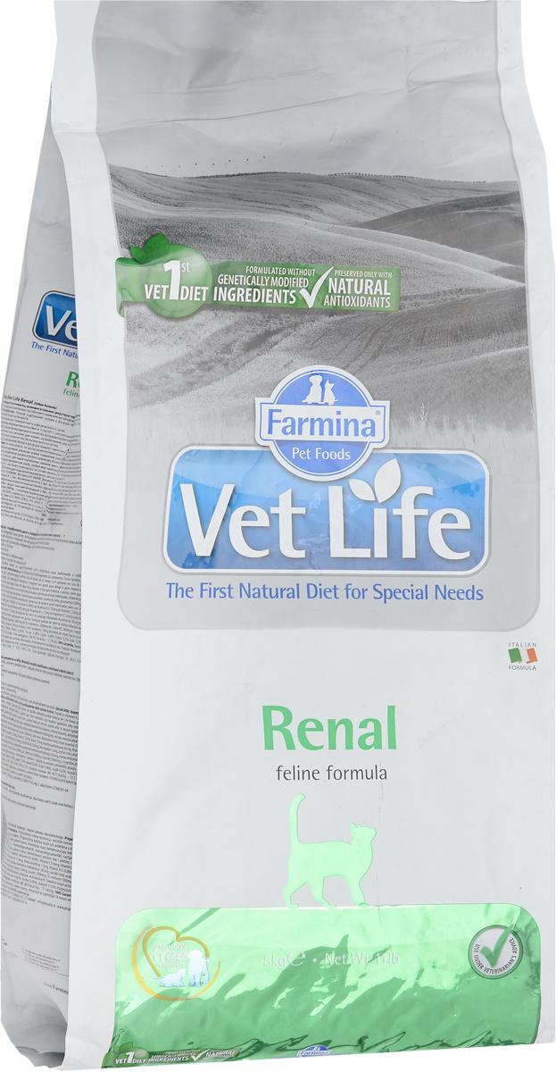 """Корм сухой Farmina """"Vet Life"""" для кошек, для поддержания функции почек при почечной недостаточности, диетический, 5 кг 31884"""