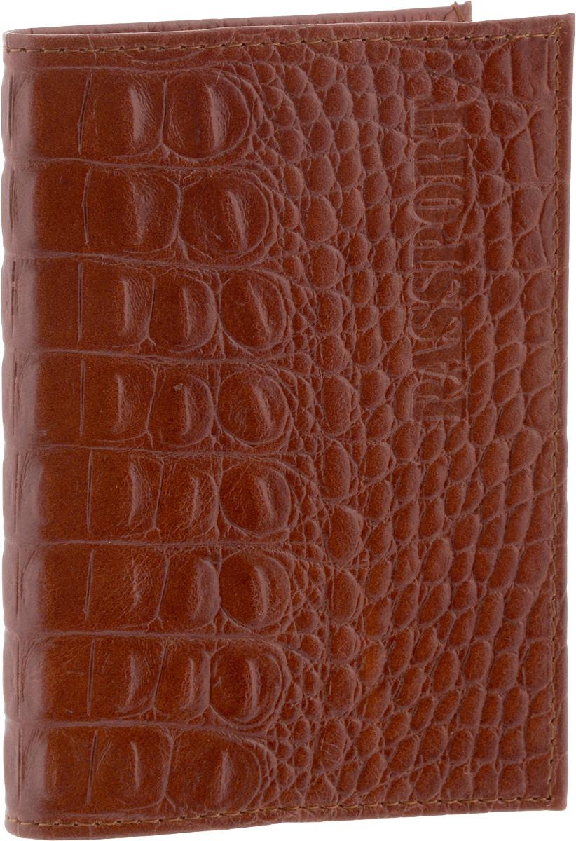 Обложка для паспорта Главдор, цвет: коричневыйGL-228Стильная обложка для паспорта Главдор изготовлена из натуральной кожи. Внутри расположены 2 прозрачных кармашка для вашего паспорта. Такие обложки предназначены для защиты ваших документов от пыли, грязи и влаги. Они сохранят их целыми и невредимыми.