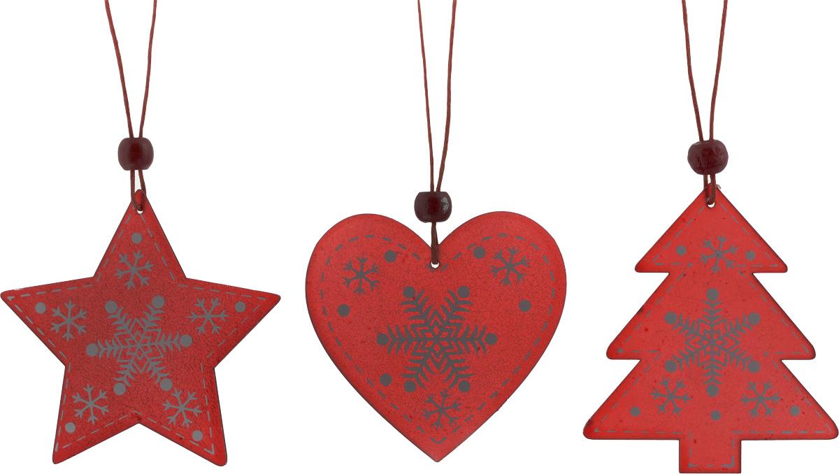 Набор новогодних подвесных украшений House & Holder Новогодний, цвет: красный, белый, 3 штDP-C40-13-15948_красный, белыйНабор подвесных украшений House & Holder Новогодний прекрасно подойдет для праздничного декора новогодней ели. Набор состоит из 3 пластиковых украшений в виде звезды, сердца, ели. Для удобного размещения на елке для каждого украшения предусмотрено петелька. Елочная игрушка - символ Нового года. Она несет в себе волшебство и красоту праздника. Создайте в своем доме атмосферу веселья и радости, украшая новогоднюю елку нарядными игрушками, которые будут из года в год накапливать теплоту воспоминаний. Откройте для себя удивительный мир сказок и грез. Почувствуйте волшебные минуты ожидания праздника, создайте новогоднее настроение вашим дорогим и близким. Размер звезды: 8 х 7,5 см. Размер сердца: 7 х 6,5 см. Размер ели: 7 х 8 см.