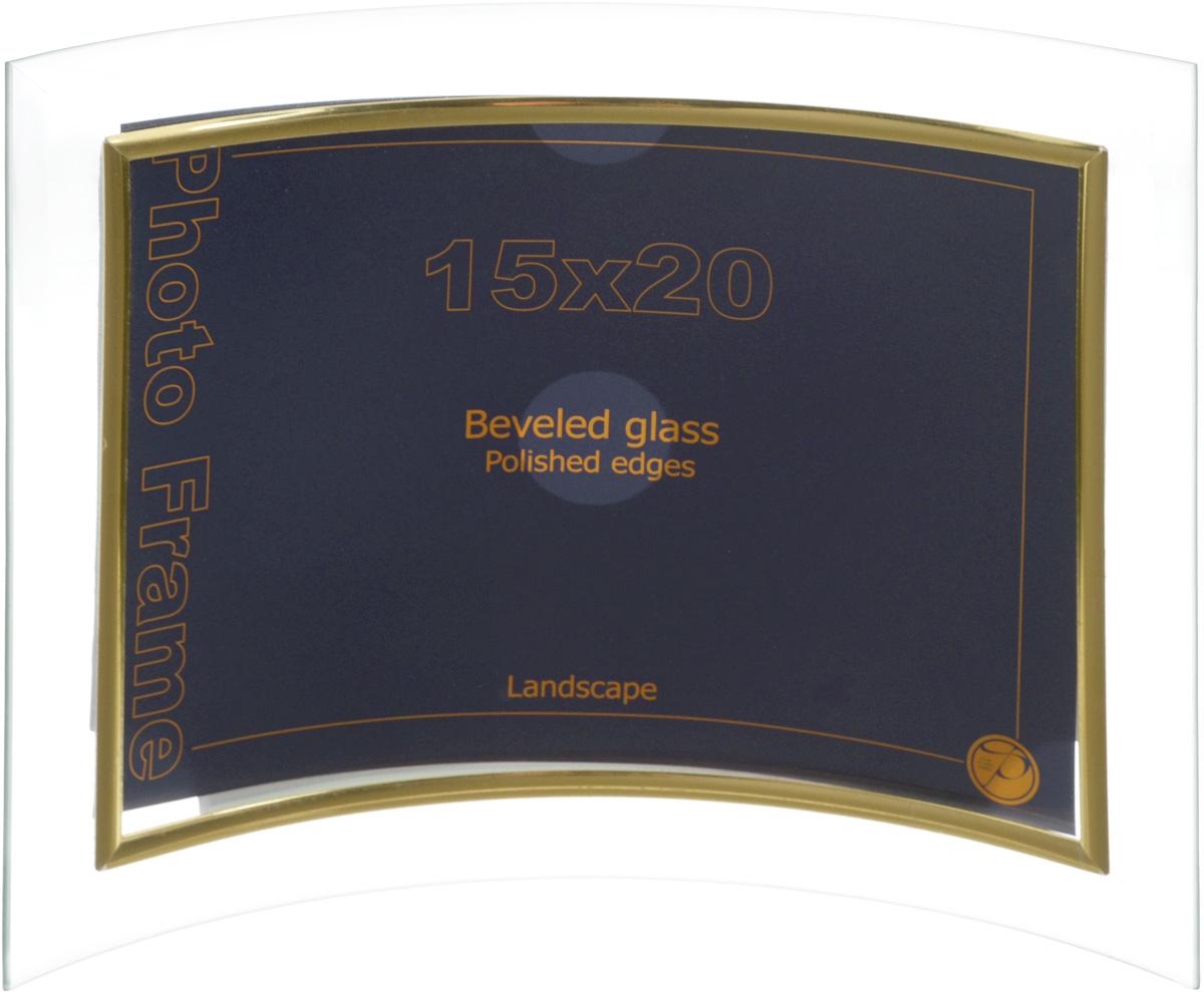 Фоторамка Pioneer Curved Hor, 15 х 20 см7313 GT116Фоторамка с изгибом Pioneer Curved Hor выполнена из высококачественного пластика и стекла, защищающего фотографию. Рамка предназначена для вертикального размещения на столе. Такая фоторамка поможет вам оригинально и стильно дополнить интерьер помещения, а также позволит сохранить память о дорогих вам людях и интересных событиях вашей жизни. Размер фоторамки: 20 х 23 см. Подходит для фотографий размером: 15 х 20 см.