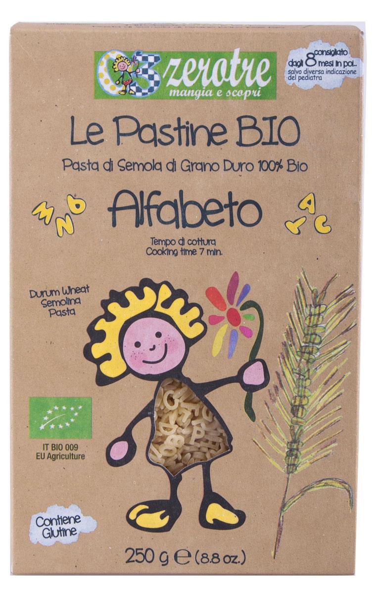 Rustichella паста Алфавит, 250 г86612Паста - это то блюдо, которое может стать одним из первых взрослых блюд в рационе ребенка. Детская паста Rustichella - это стопроцентно натуральный продукт, который знаменит и популярен во многих странах мира. Паста Rustichella Алфавит - это макаронные изделия из экологически чистой пшеничной муки твердых сортов, которые порадуют вашего ребенка своим натуральным вкусом и веселыми буквами итальянского алфавита.