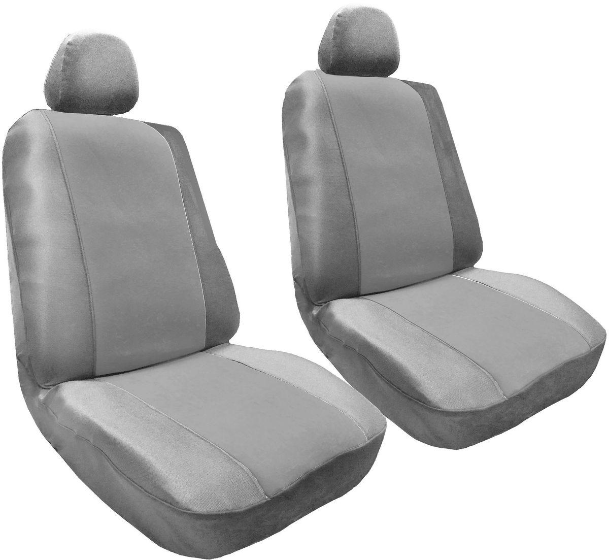 Набор автомобильных чехлов Auto Premium Корвет, цвет: серый, 4 предмета57305Комлект универсальных чехлов на передние сиденья выполнен из велюра, предназначен для передних кресел автомобиля. В комплект входят съемные чехлы для подголовников .Практичный и долговечный комплект чехлов для передних сидений надежно защищает сиденье водителя и пассажира от механических повреждений, загрязнений и износа.