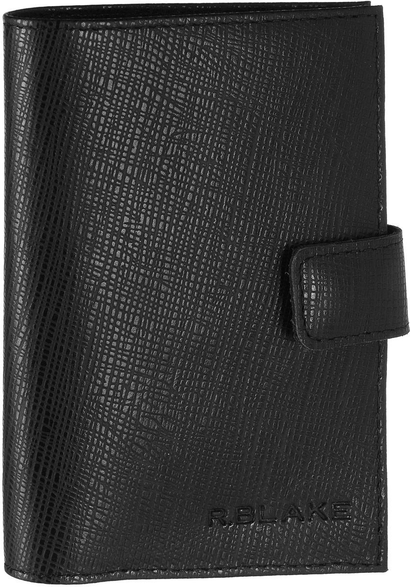 Обложка для паспорта мужская R.Blake ОП-1 Advocate, цвет: черный. GOP100-000000-FC501O-K101GOP100-000000-FC501O-K101Мужская обложка для паспорта R.Blake ОП-1 Advocate изготовлена из натуральной кожи с фактурным тиснением. Внутри расположены боковые прозрачные карманы из ПВХ для фиксации паспорта, кожаный карман-уголок и небольшой прорезной кармашек. Закрывается обложка на хлястик с кнопкой. Изделие упаковано в фирменную коробку.