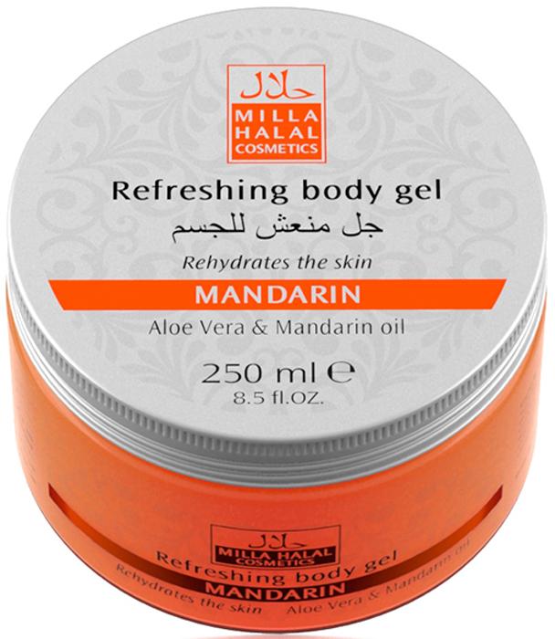 Milla Halal Cosmetics Освежающий гель для тела с маслом мандарина и экстрактом алоэ вера MILLA MANDARIN, 250МЛ10788100% натуральный продукт. Освежающий гель для тела с эфирным маслом Мандарина снимает мышечное напряжение, способствует регенерации клеток кожи, устраняет раздражение. Гель оказывает тонизирующее действие на кожу, придавая ей лeгкий, нежный фруктовый аромат.