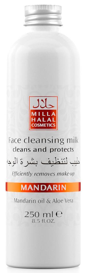 Milla Halal Cosmetics Молочко очищающее для лица с маслом мандарина и экстрактом алоэ вера MANDARIN, 250МЛ10795100% натуральный продукт. Продукт предназначен для снятия макияжа с лица. Эффективно удаляет тушь для ресниц без раздражения глаз. Очищающее молочко для лица, глубоко проникая в поры кожи, мягко удаляет загрязнения. Натуральный состав ингредиентов, в том числе эфирное масло Мандарина, содержащиеся в молочке оказывают антистрессовое и антисептическое воздействие на кожу лица. Очищающее молочко является отличным подготовительным этапом для средств дневного или ночного ухода за кожей лица.