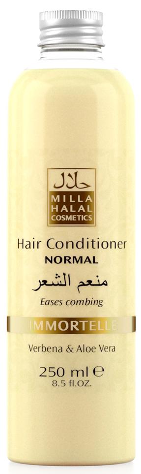 Milla Halal Cosmetics Кондиционер для нормальных волос с экстрактами вербены и алоэ вера MILLA IMMORTELLE, 250МЛ10980100% натуральный продукт. Кондиционер для нормальных волос с экстрактами листьев Вербены лекарственной и Алоэ Вера является эффективным средством по уходу за любым типом волос, подходит для частого применения. Кондиционер значительно облегчает расчёсывание волос, не утяжеляет их.