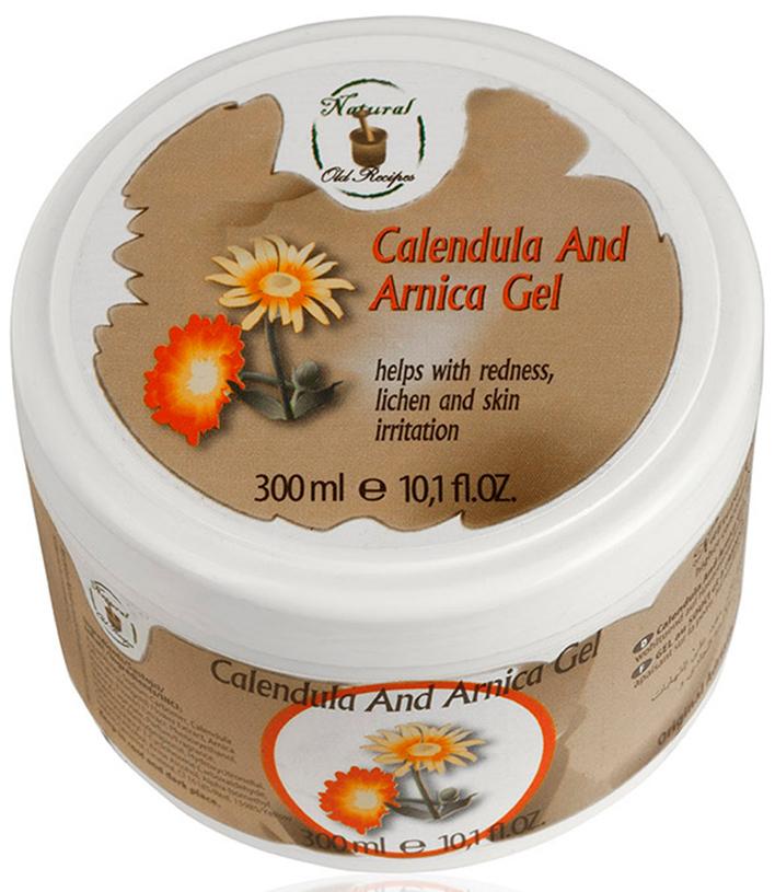 Old Recipes Гель для тела от кожных воспалений, раздражений и лишая с календулой и арникой, 300МЛ6712100% натуральная косметика. Применяется при различных воспалительных процессах: растяжении связок, воспалений суставов, покраснений при лишае, воспалении поверхностных вен и тромбозах. Арника оказывает сильное противовоспалительное действие. Растение успокаивает раздраженную кожу даже после укусов насекомых. Также облегчению воспалительных проявлений способствует календула – известное с древних времен растение, благотворно влияющее на заживление ран, использующееся для ускоренного восстановления поврежденных кожных покровов. Не является лекарственным препаратом.