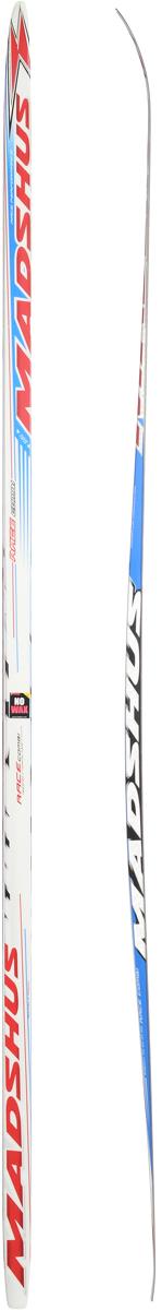 Лыжи беговые Madshus Race Combi MG, цвет: белый, красный, синий, длина 195 смN13367Madshus Race Combi MG - это добротные, надежные, универсальные беговые лыжи для любителей. Изделия изготовлены из прочных материалов. Лыжи оснащены деревянным сердечником с воздушными каналами. Изделия имеют специальные насечки MG для классического хода. Лыжи легкоуправляемые, не требуют специального ухода и долговечны в использовании. Ширина лыжи в месте крепления ботинка: 4 см.