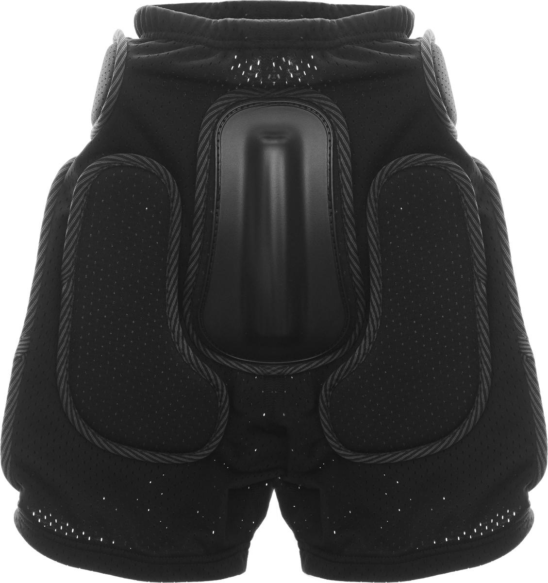 Шорты защитные Biont Комфорт, цвет: черный, размер SRE002Защитные шорты Biont Комфорт - это необходимая часть снаряжения сноубордистов, любителей экстремального катания на роликах, байкеров, фанатов зимнего кайтинга. Шорты изготовлены из мягкой эластичной потовыводящей сетки с хорошей воздухопроницаемостью под накладками без остаточной деформации. Для обеспечения улучшенной вентиляции в шортах используется дышащая сетка спейсер. Комфортные защитные шорты Biont Комфорт идеальный выбор для любителей экстремального спорта. Толщина пластиковых накладок: 8-12 мм.