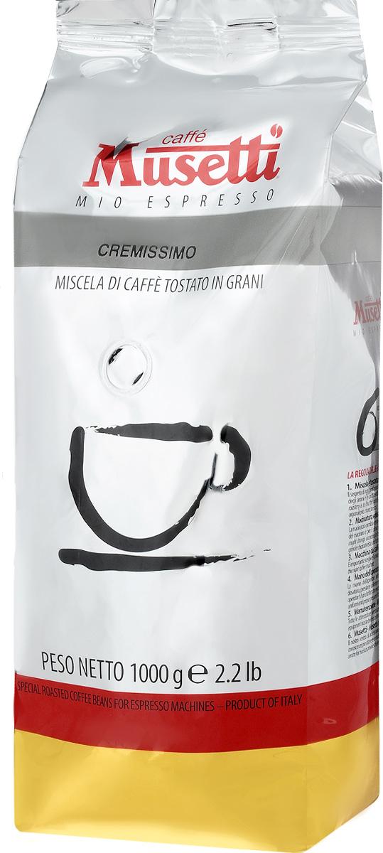 Musetti Cremissimo кофе в зернах, 1 кг8004769200901Кофе в зернах Musetti Cremissimo - натуральный жареный кофе. Исключительные вкусовые и ароматические свойства арабики, обогащенные плотностью и кремообразностью африканской робусты, делают эту смесь идеальной для приготовления изысканного итальянского эспрессо, плотного, с шоколадным послевкусием.