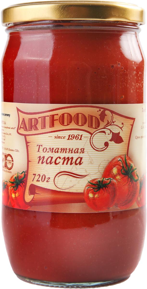 Artfood томатная паста, 720 г21001110200001Впервые продукт, напоминающий томатную пасту, появился в XIX веке в Италии: итальянские повара готовили соусы из томатов, добавляя туда оливковое масло с перцем и чеснок. Томатная паста является не только вкусной, но и полезной. Ее добавляют в различные блюда, так как она придает пикантность, цвет и насыщенный аромат пище.