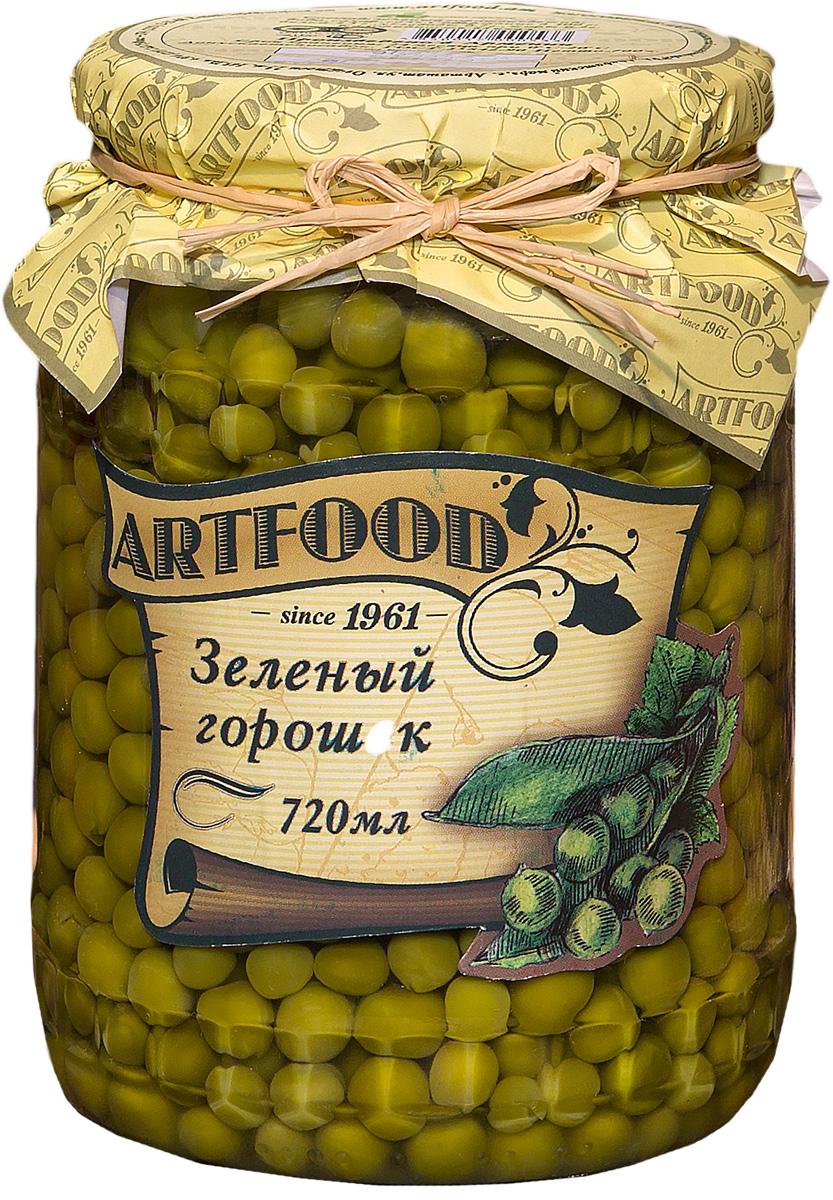 Artfood зеленый горошек, 720 мл23001110200024Неизменная составляющая салата оливье и винегрета, полезная и быстрая закуска - продолжает оставаться на пике популярности. Супы, салаты, гарниры, паштеты, овощные рагу многие не могут представить себе без этого универсального продукта, который отлично сочетается с мясом, рыбой, любыми овощами, майонезом и прочими соусами.