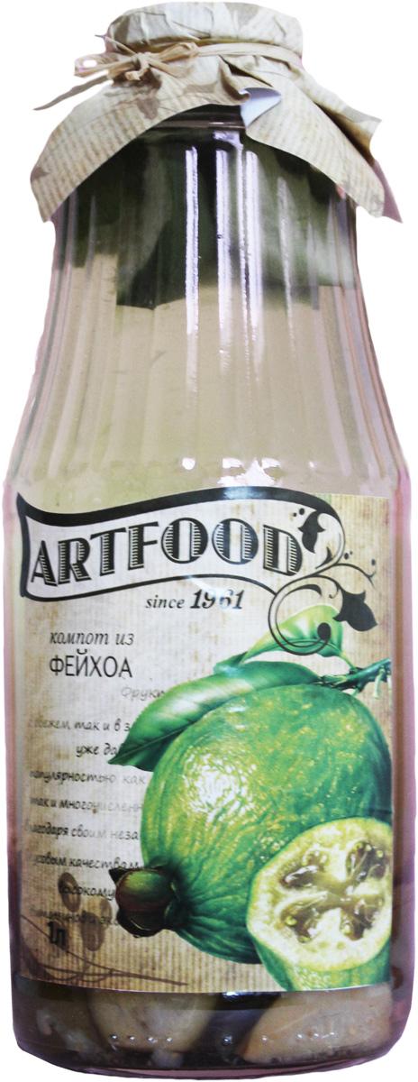 Artfood компот из фейхоа, 1 л13001110200006Компот обладает множеством полезных свойств в сравнении с другими жидкостями. В отличие от воды в нём содержатся витамины. От соков компот отличается тем, что не содержит такого обильного количества кислот, которые могут негативно повлиять на желудок