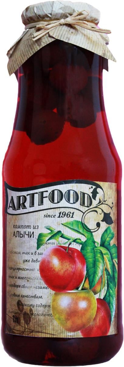 Artfood компот из алычи, 1 л13001110200007Компот обладает множеством полезных свойств в сравнении с другими жидкостями. В отличие от воды в нём содержатся витамины. От соков компот отличается тем, что не содержит такого обильного количества кислот, которые могут негативно повлиять на желудок