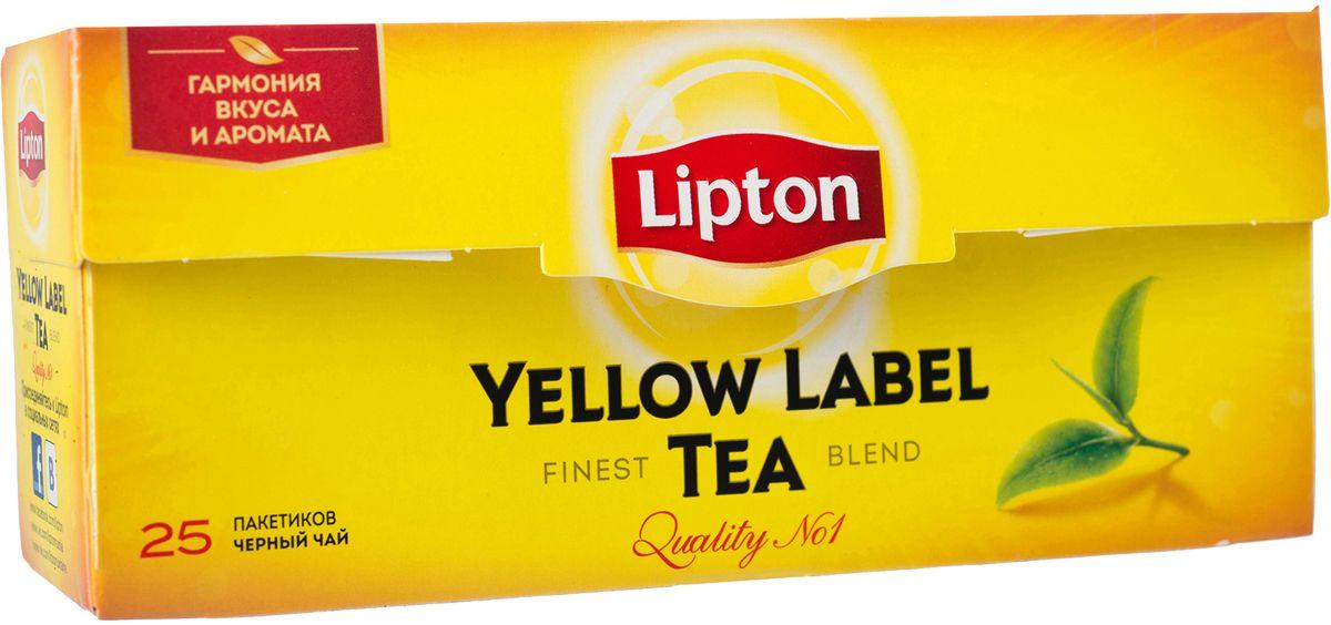 Lipton Yellow Label Черный чай Черный 25 шт67016453/65414856Lipton Yellow Label - черный байховый чай в пакетиках для разовой заварки. Специалисты Lipton внимательно следят за каждым этапом создания чая, начиная с рождения чайного листа и заканчивая купажированием, чтобы Вы могли в полной мере насладиться гармонией вкуса и аромата черного чая Lipton Yellow Label. Нежные чайные листочки, выращенные под теплыми лучами солнца, дарят чаю Lipton насыщенный вкус и превосходный богатый аромат. Ощутите тепло солнца в каждой чашке чая Lipton.