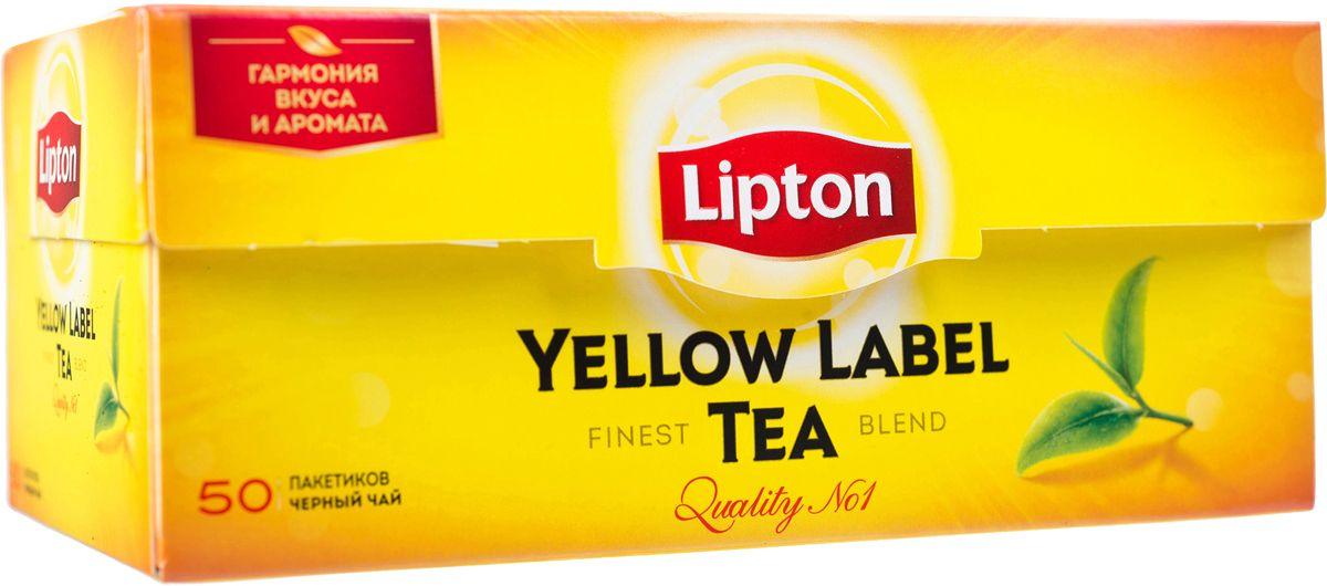 Lipton Yellow Label Черный чай Черный 50 шт65414858/10067006Lipton Yellow Label - черный байховый чай в пакетиках для разовой заварки. Специалисты Lipton внимательно следят за каждым этапом создания чая, начиная с рождения чайного листа и заканчивая купажированием, чтобы Вы могли в полной мере насладиться гармонией вкуса и аромата черного чая Lipton Yellow Label. Нежные чайные листочки, выращенные под теплыми лучами солнца, дарят чаю Lipton насыщенный вкус и превосходный богатый аромат. Ощутите тепло солнца в каждой чашке чая Lipton.