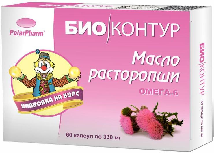 Масло расторопши БиоКонтур, в капсулах 330 мг, №604607097011955Масло расторопши БиоКонтур в капсулах 330 мг №60 способствует восстановлению пораженных клеток печени способствует предупреждению нарушения структуры и функции печени способствует понижению уровня холестерина в крови Состав: масло расторопши, оболочка (желатин, глицерин (пластификатор), вода), витамин Е Товар не является лекарственным средством. Могут быть противопоказания и следует предварительно проконсультироваться со специалистом.