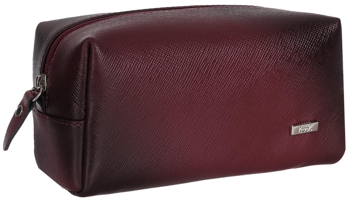 Косметичка женская Esse Минна, цвет: бордовый. GMNN00-000000-FG906O-K100GMNN00-000000-FG906O-K100Компактная женская косметичка Esse Минна выполнена из натуральной кожи с фактурной поверхностью. Изделие содержит одно вместительное отделение, которое закрывается на застежку-молнию. Женская косметичка - это стильный и полезный аксессуар для любой современной модницы.