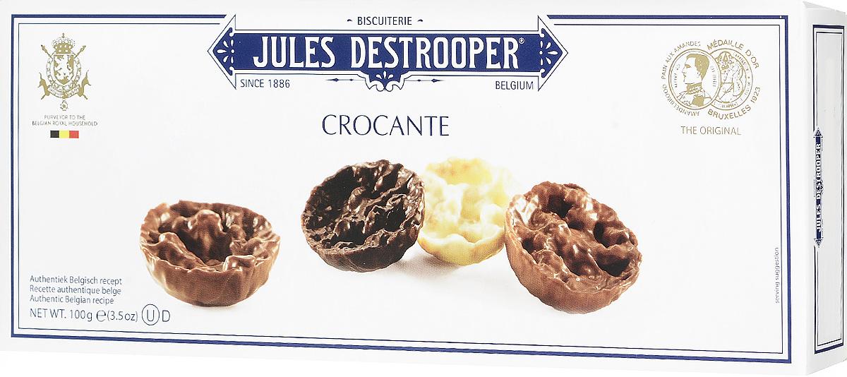 Jules Destrooper Флорентийское печенье с лесным орехом и хрустящим рисом, 100 гК10024Флорентийское печенье Jules Destrooper - это хрустящие карамельные бисквитики, заполненные ореховыми чипсами, воздушным хрустящим рисом и покрытые бельгийским шоколадом (молочным, белым и темным). Уважаемые клиенты! Обращаем ваше внимание, что полный перечень состава продукта представлен на дополнительном изображении.