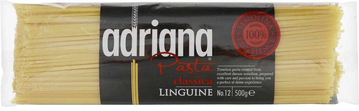 Adriana Linguine паста, 500 г15026Adriana - высококачественная паста из 100% семолины. Только 100% семолина или качественная мука из специальных твердых сортов пшеницы гарантирует, что паста, даже после превышения рекомендуемого времени приготовления, не разварится и не слипнется после охлаждения. Linguine внешне напоминают спагетти, только немного сплюснутые, чуть длиннее, чем спагетти. Linguine готовят как спагетти, не ломая. Эта паста достаточно крупная, чтобы подавать ее с густыми соусами. Один из самых популярных рецептов с Linguine - Linguine с морепродуктами. Linguine отлично сочетаются с традиционным соусом песто из свежего базилика, чеснока и пармезана. Но попробуйте подать их с соусом из лисичек и сливок, с тигровыми креветками и лаймом, с баклажанами, цуккини и вялеными томатами - восхищение и благодарность близких вам обеспечены. Способ приготовления: варить макаронные изделия в кипящей подсоленной воде (1 литр воды на 100 грамм макаронных изделий). Можете добавить столовую ложку растительного...
