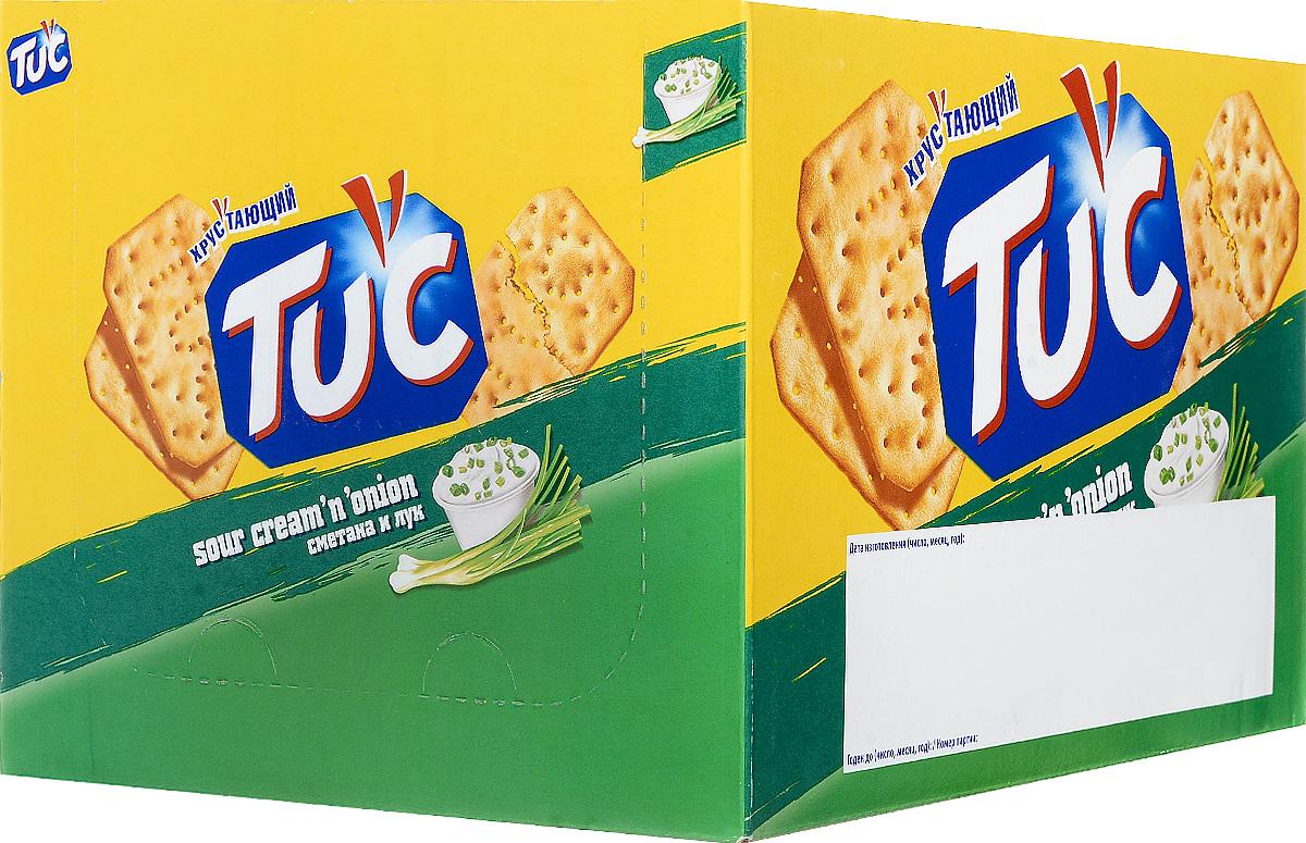Tuc Крекер со вкусом сметаны и лука, 24 упаковки по 21 г 641583, 638863