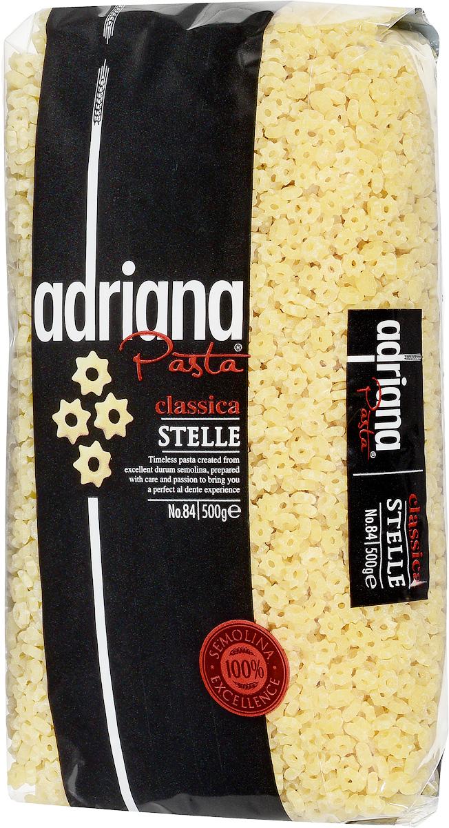 Adriana Stelle паста, 500 г15021Adriana - высококачественная паста из 100% семолины. Только 100% семолина или качественная мука из специальных твердых сортов пшеницы гарантирует, что паста, даже после превышения рекомендуемого времени приготовления, не разварится и не слипнется после охлаждения. Небольшой, удобный размер и нежный вкус макаронных изделий позволяет использовать их для детского супчика. Способ приготовления: варить макаронные изделия в кипящей подсоленной воде (1 литр воды на 100 грамм макаронных изделий). Можете добавить столовую ложку растительного масла. Варить в течение 5-7 минут, постоянно помешивая. В конце приготовления попробуйте. Слейте воду и подавайте на стол.