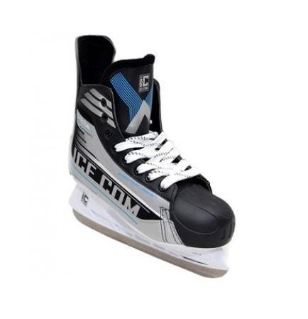 Коньки хоккейные Ice.Com A 2.0e 2014, цвет: серый, синий, черный. Размер 39