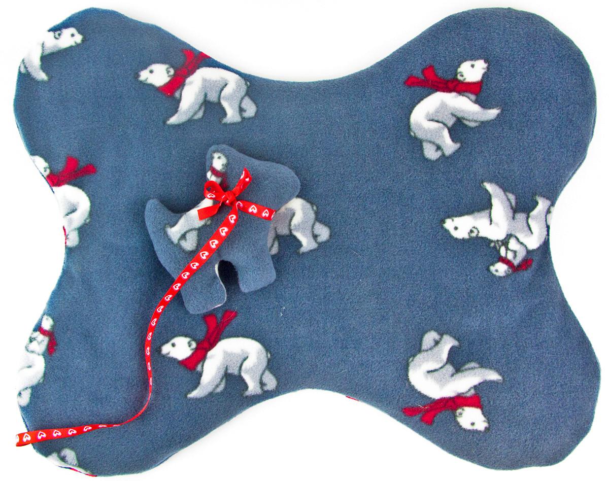 Лежак-коврик для животных Zoobaloo Косточка. Мишки, с игрушкой, 50 х 45 см1102Великолепный флисовый лежак-коврик Zoobaloo - это отличный аксессуар для вашего питомца, на котором можно спать, играться и снова, приятно устав, заснуть. Он идеально подходит для полов с любым покрытием. Изделие поддерживает температурный баланс вашего питомца в любое время года. Наполнитель выполнен из синтепона.