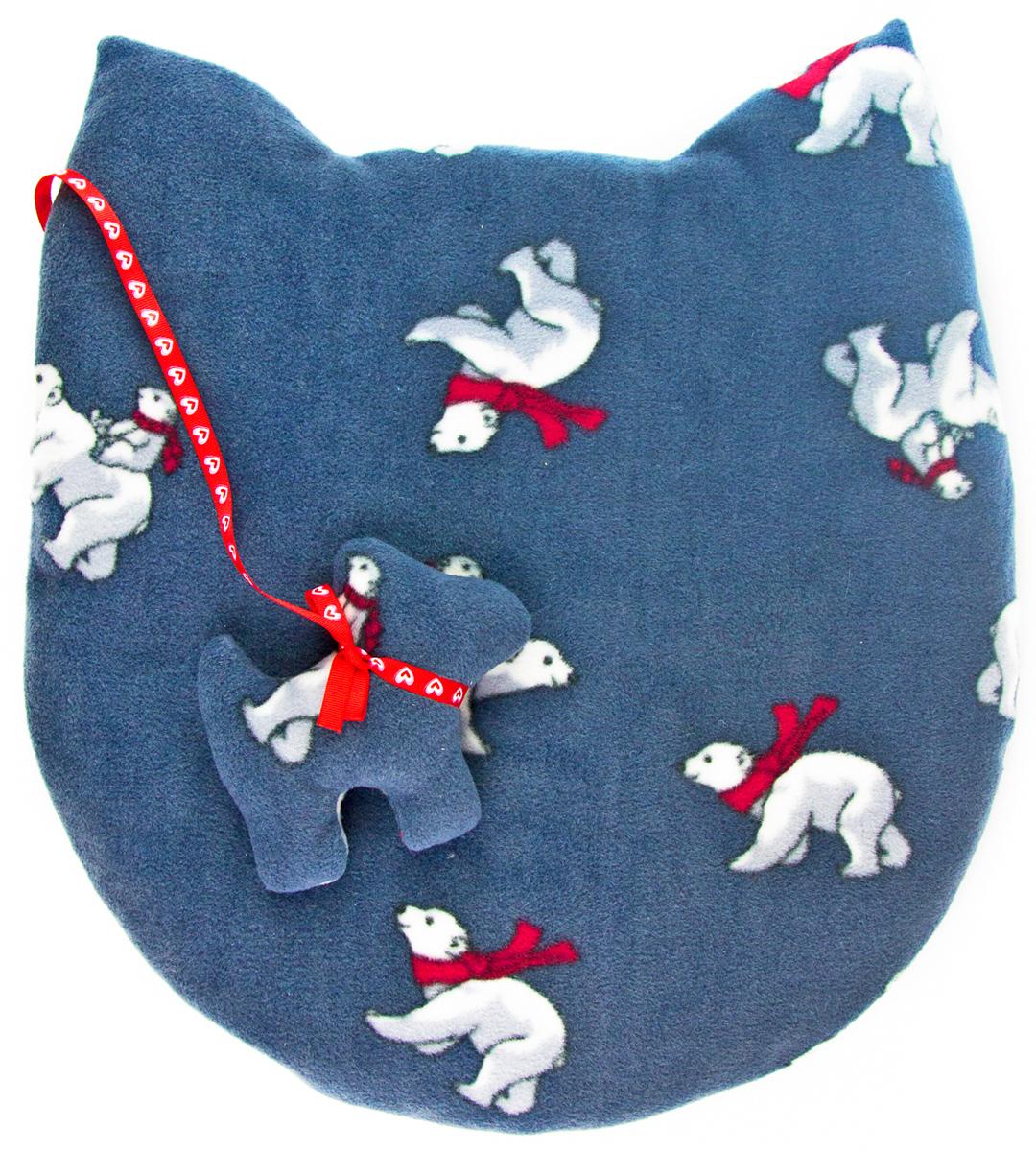 Лежак-коврик для животных Zoobaloo Мордашка. Мишки, с игрушкой, 45 х 50 см1112Великолепный флисовый лежак-коврик Zoobaloo - это отличный аксессуар для вашего питомца, на котором можно спать, играться и снова, приятно устав, заснуть. Он идеально подходит для полов с любым покрытием. Изделие поддерживает температурный баланс вашего питомца в любое время года. Наполнитель выполнен из синтепона.