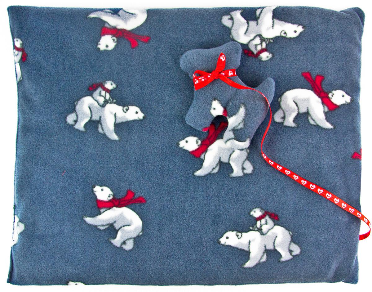 Лежак-коврик для животных Zoobaloo Мишки, с игрушкой, 70 х 60 см1134Великолепный флисовый лежак-коврик Zoobaloo - это отличный аксессуар для вашего питомца, на котором можно спать, играться и снова, приятно устав, заснуть. Он идеально подходит для полов с любым покрытием. Изделие поддерживает температурный баланс вашего питомца в любое время года. Наполнитель выполнен из синтепона.