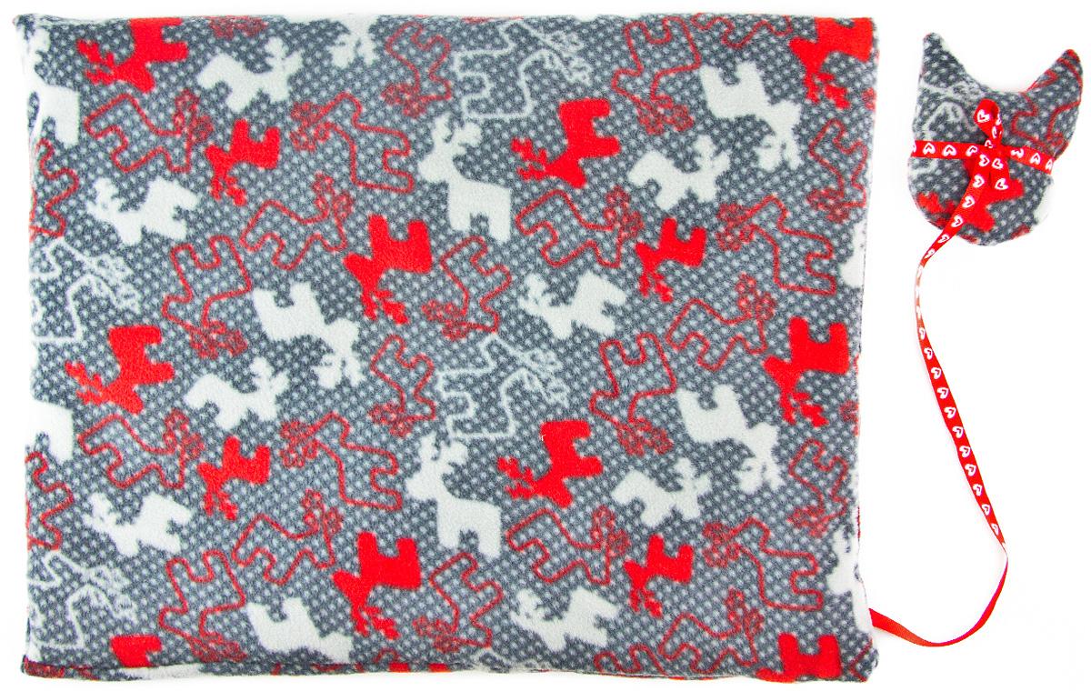 Лежак-коврик для животных Zoobaloo Олени, с игрушкой, 70 х 60 см1136Великолепный флисовый лежак-коврик Zoobaloo - это отличный аксессуар для вашего питомца, на котором можно спать, играться и снова, приятно устав, заснуть. Он идеально подходит для полов с любым покрытием. Изделие поддерживает температурный баланс вашего питомца в любое время года. Наполнитель выполнен из синтепона.