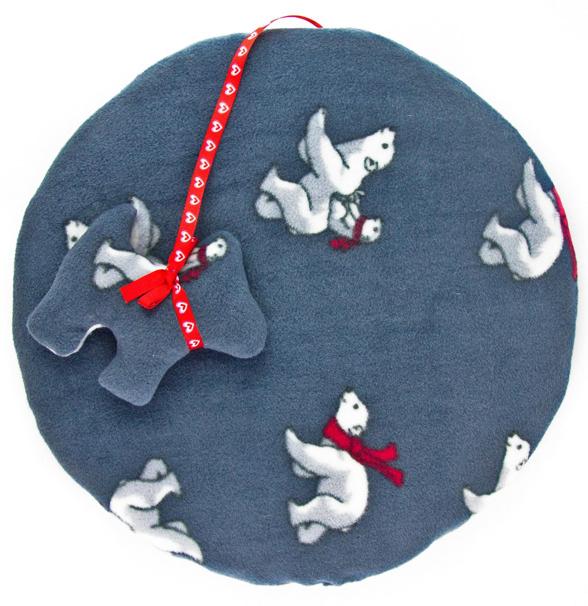 Лежак-коврик для животных Zoobaloo Мишки, с игрушкой, 40 х 40 см1152Великолепный флисовый лежак-коврик Zoobaloo - это отличный аксессуар для вашего питомца, на котором можно спать, играться и снова, приятно устав, заснуть. Он идеально подходит для полов с любым покрытием. Изделие поддерживает температурный баланс вашего питомца в любое время года. Наполнитель выполнен из синтепона.