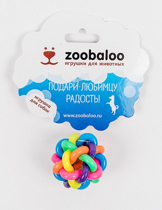 Игрушка для собак Zoobaloo Мяч, диаметр 7 см318Игрушка Zoobaloo Мяч поможет вашему любимцу снять стресс. Мяч подходит для взыскательных и творческих животных - тут вам не просто сфера, а простор воображению и переплетение цветов!