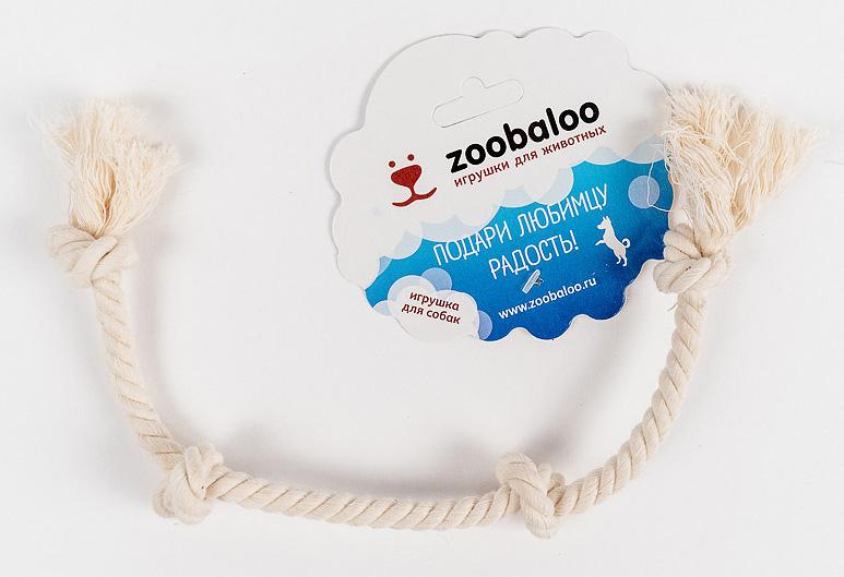 Грейфер для собак Zoobaloo, длина 28 см. 414414Классическая игрушка для собак Zoobaloo изготовлена из хлопка высшего качества. Натуральная веревка помогает очистить зубы собаки от налета и зубного камня и поддерживать гигиену полости рта. Ее можно жевать, бросать и приносить. Море радости и азарта обеспечено!