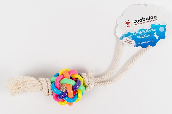 Игрушка для собак Zoobaloo Мяч. 422422Интересная и занимательная игрушка Zoobaloo Мяч с необыкновенным сплетением разноцветных латексных колец. Продетая внутри такого мяча веревка из хлопчатобумажной ткани дополняет изысканную композицию для вашего питомца. Без сомнений, с этой вещицей ваш любимец проведет не один час.