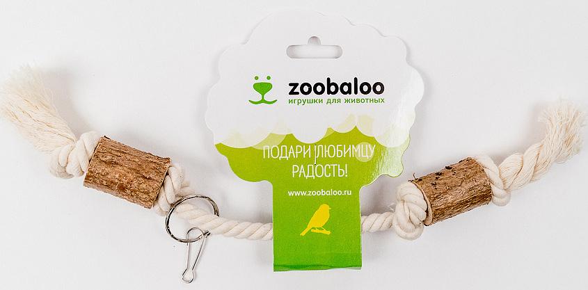 Игрушка для птиц Zoobaloo Гантель515Оригинальная игрушка для пернатых друзей Zoobaloo Гантель изготовлена из хлопчатобумажной веревки и орешника. Имеет карабин для крепления в любом месте клетки.
