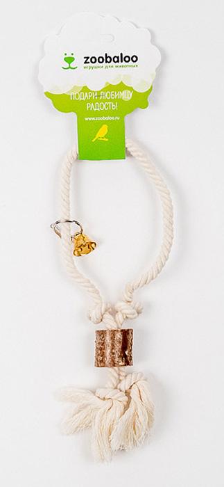 Игрушка для птиц Zoobaloo Кольцо с боченками517Оригинальная игрушка Zoobaloo Кольцо с боченками предназначена для пернатых друзей. Выполненная в форме кольца из хлопчатобумажной веревки, оснащена звонким блестящим колокольчиком. Абсолютно натуральная и безопасная!