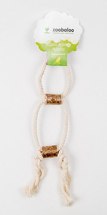 Игрушка для птиц Zoobaloo Двойное кольцо с боченками518Оригинальная игрушка для пернатых друзей Zoobaloo Двойное кольцо с боченками выполнена из хлопчатобумажной веревки и орешника. Абсолютно натуральная и безопасная!