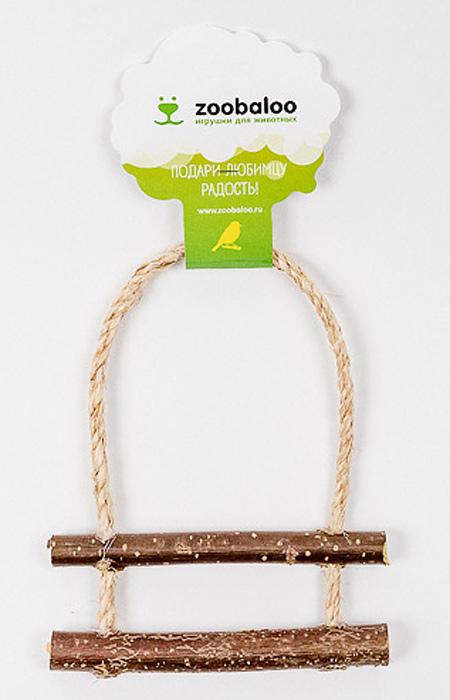 Игрушка для птиц Zoobaloo Лесенка с орешником535Оригинальная игрушка Zoobaloo Лесенка с орешником предназначена для поддержания активности ваших питомцев. Сделана из натуральных материалов и оснащена двумя удобными жердочками и колокольчиком.