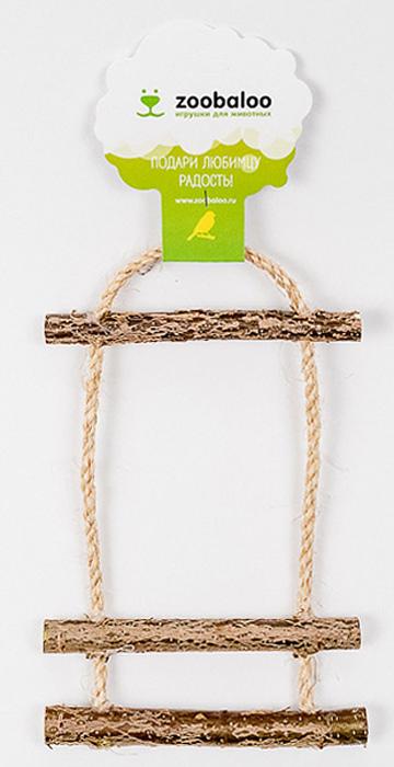Игрушка для птиц Zoobaloo Лесенка с колоколом5352Игрушка Zoobaloo Лесенка с колоколом изготовлена из орешника. Будет идеальна для досуга и будней.