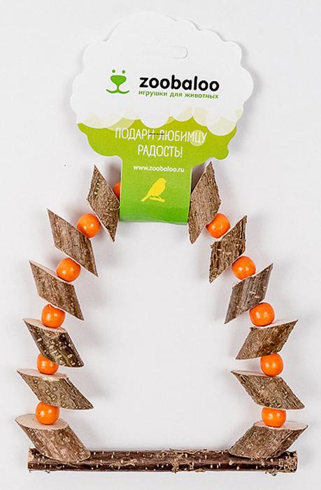 Игрушка для птиц Zoobaloo Качели деревянные бруски с бусинками 28х15см5371Представляем вашему вниманию аксессуар для клеток ваших питомцев из серии Natural living. Эти игрушки в отличие от своих аналогов производятся из высококачественных натуральных материалов и полностью безопасны для ваших питомцев. Качели изготовлены из брусочков из веток орешника и оснащены карабином для подвешивания в клетке. УВАЖАЕМЫЕ КЛИЕНТЫ! Обращаем ваше внимание на возможные изменения в цвете бусинок. Поставка осуществляется в зависимости от наличия на складе.