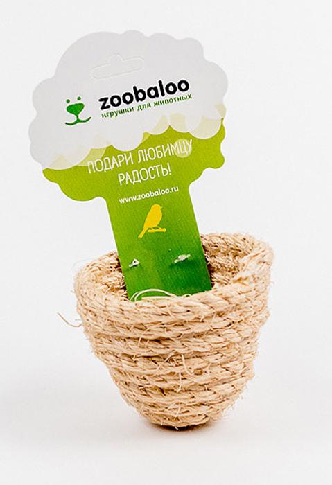 Игрушка для птиц Zoobaloo Гнездо объемное. 567567Благодаря полностью натуральному плетению игрушка Zoobaloo Гнездо объемное выгодно отличается от остальных гнезд. Такая игрушка не даст скучать вашему питомцу.