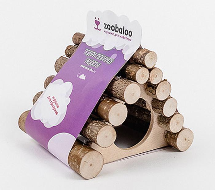 Домик для грызунов Zoobaloo Треугольник, 13 х 10 х 10 см605Комфортный деревянный домик Zoobaloo послужит надежным укрытием вашему любимцу, а также идеальным местом для сна и отдыха! Домик весьма просторный, имеет оригинальную треугольную крышу, изготовленную из прутьев орешника, и удобный круглый вход. Этот аксессуар предоставит вашему любимцу минуты отдыха в течение дня. Домик позволит вашему грызуну ощутить максимальный комфорт и уют!