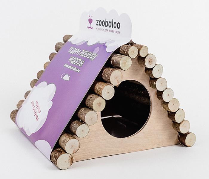 Домик для грызунов Zoobaloo Треугольник, 18 х 15 х 15 см606Комфортный деревянный домик Zoobaloo послужит надежным укрытием вашему любимцу, а также идеальным местом для сна и отдыха! Домик весьма просторный, имеет оригинальную овальную крышу, изготовленную из прутьев орешника, и удобный круглый вход. Этот аксессуар предоставит вашему любимцу минуты отдыха в течение дня. Домик позволит вашему грызуну ощутить максимальный комфорт и уют!