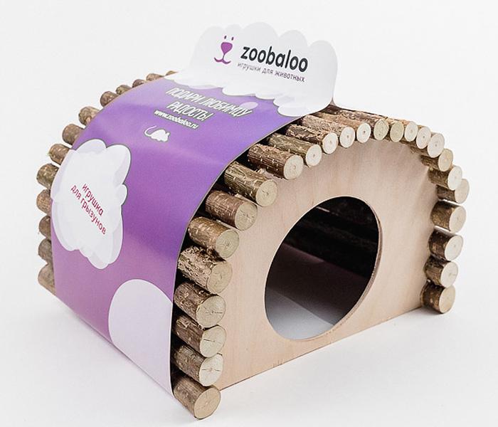 Домик для грызуна Zoobaloo овал большой 23х15х17см610Домик для грызунов дерево овальный маленький. Представляем вам комфортный деревянный домик, который послужит надежным укрытием вашему любимцу, а также идеальным местом для сна и отдыха! Домик весьма просторный, имеет оригинальную овальную крышу, изготовленную из прутьев орешника, и удобный круглый вход. Этот аксессуар предоставит вашему любимцу минуты отдыха в течение дня. Домик позволит вашему грызуну ощутить максимальный комфорт и уют!