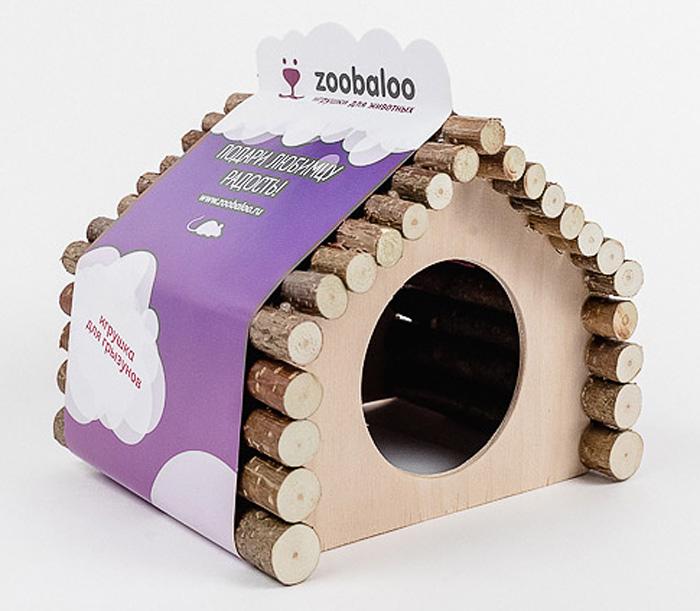 Домик для грызунов Zoobaloo Ромб, 18 х 15 х 15 см612Комфортный деревянный домик для грызунов Zoobaloo послужит надежным укрытием вашему любимцу, а также идеальным местом для сна и отдыха после насыщенного всевозможными делами дня! Домик имеет оригинальную ромбовидную крышу, изготовленную из веток орешника, и удобный круглый вход. Этот аксессуар предоставит вашему любимцу минуты отдыха в течение дня. Домик позволит вашему грызуну ощутить максимальный комфорт и уют! Кроме того, аксессуар является великолепной альтернативой пластиковым домикам и металлическим клеткам.