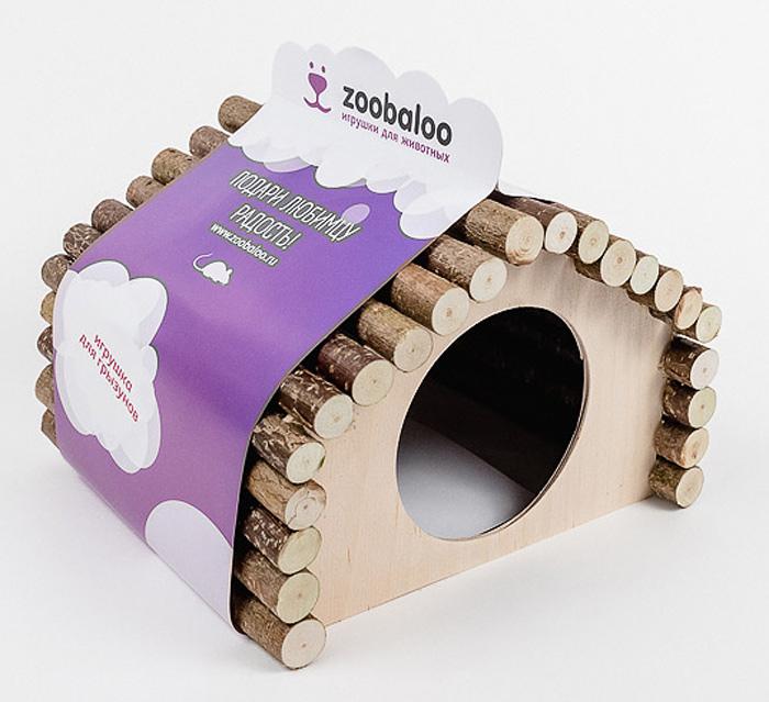 Домик для грызунов Zoobaloo Ромб, 23 х 15 х 17 см613Комфортный деревянный домик для грызунов Zoobaloo послужит надежным укрытием вашему любимцу, а также идеальным местом для сна и отдыха после насыщенного всевозможными делами дня! Домик имеет оригинальную ромбовидную крышу, изготовленную из веток орешника, и удобный круглый вход. Этот аксессуар предоставит вашему любимцу минуты отдыха в течение дня. Домик позволит вашему грызуну ощутить максимальный комфорт и уют! Кроме того, аксессуар является великолепной альтернативой пластиковым домикам и металлическим клеткам.