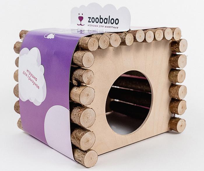 Домик для грызунов Zoobaloo КвадроДом, 19 х 12 х 16 см615Оригинальный домик для грызунов Zoobaloo изготовлен из орешника. Благодаря технологии производства без гвоздя и использовании съедобного клея ваш любимец может не только жить в этом домике, но и кусать и грызть его, и все это абсолютно безопасно! Благодаря прямоугольной форме крыши, домик успешно может быть использован в качестве спортивного снаряда для поддержания формы вашего питомца! По нему можно бегать, лазить!